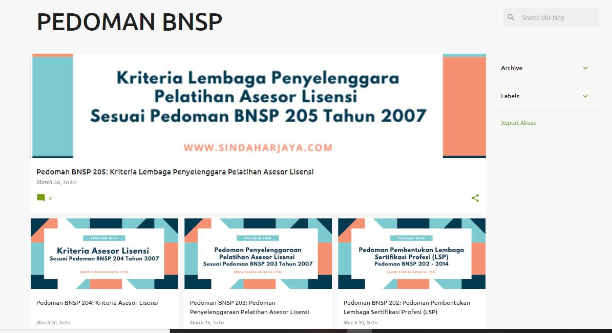 Gambar 2: Tampilan Blog Blogger