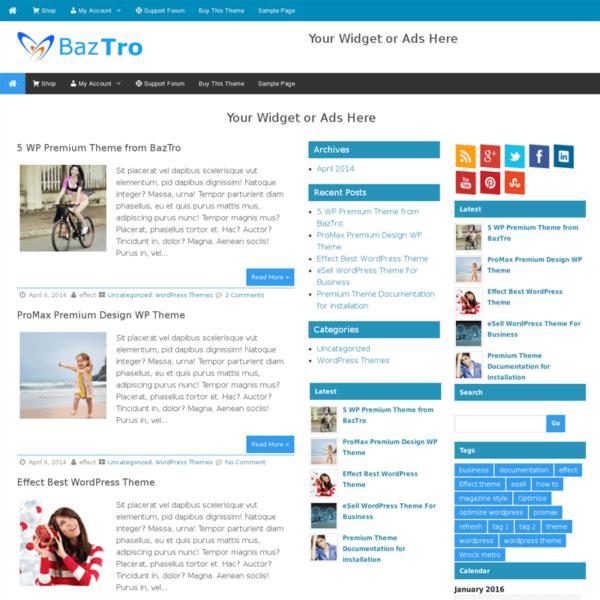 Wrock Metro Insertcart WordPress Premium Themes